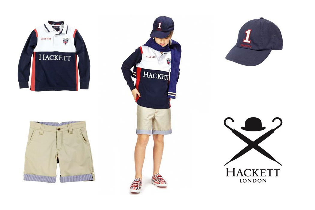 hackett london boys red white blue rugby outfit