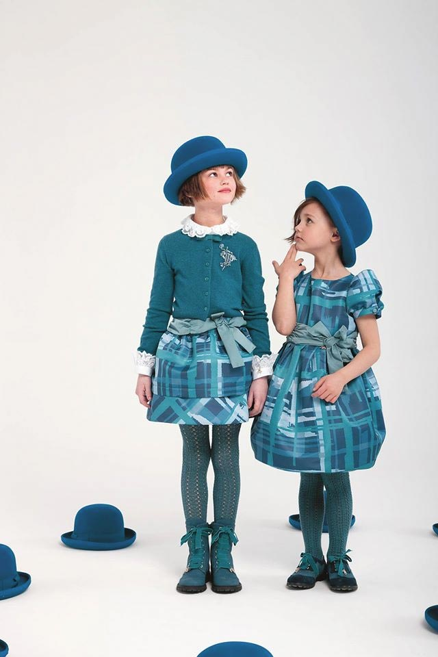 i pinco pallino girls tartan dress fall winter 2014
