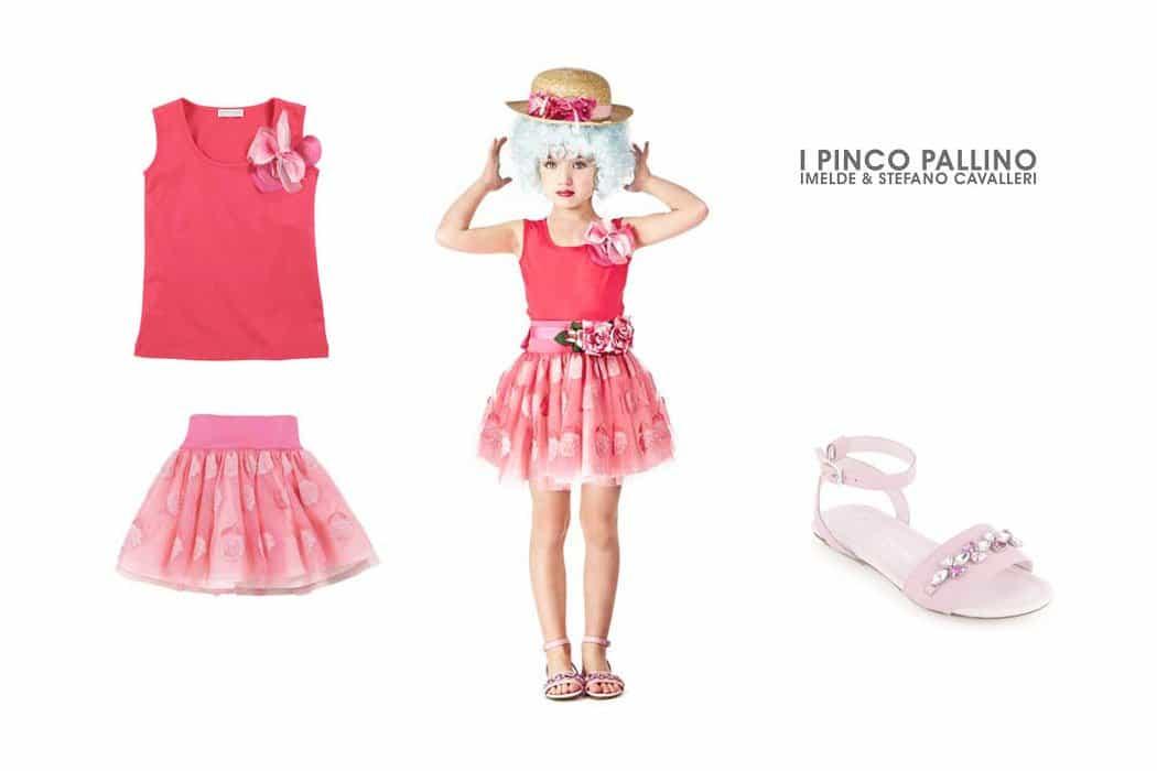i pinco pallino pink tulle skirt geranium top