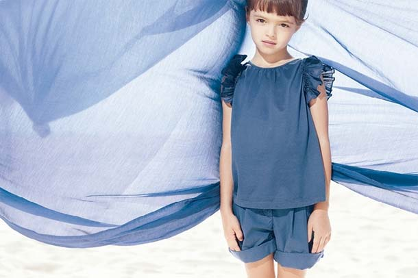 il gufo spring summer 2013 girls blue outfit