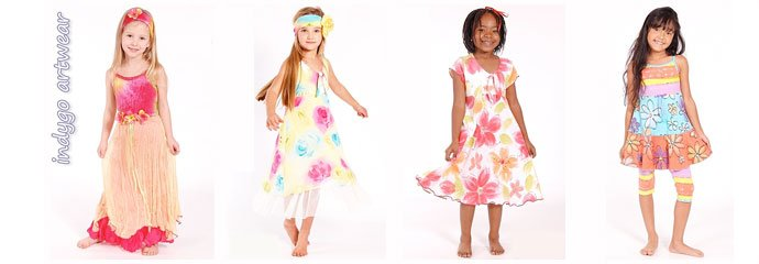 indygo artwear hand painted girls clothes