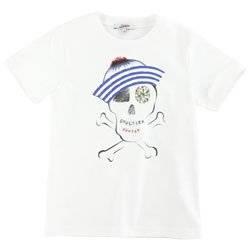 junior gaultier Ivory T shirt pirate print