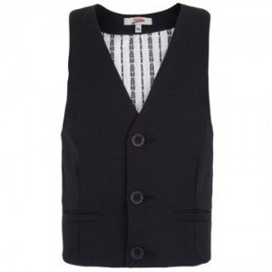 junior gaultier fall winter 2013 black suit vest