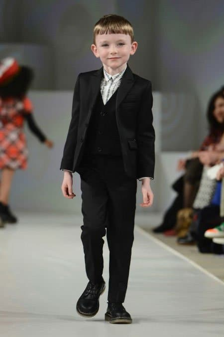 junior gaultier fall winter 2013 black suit