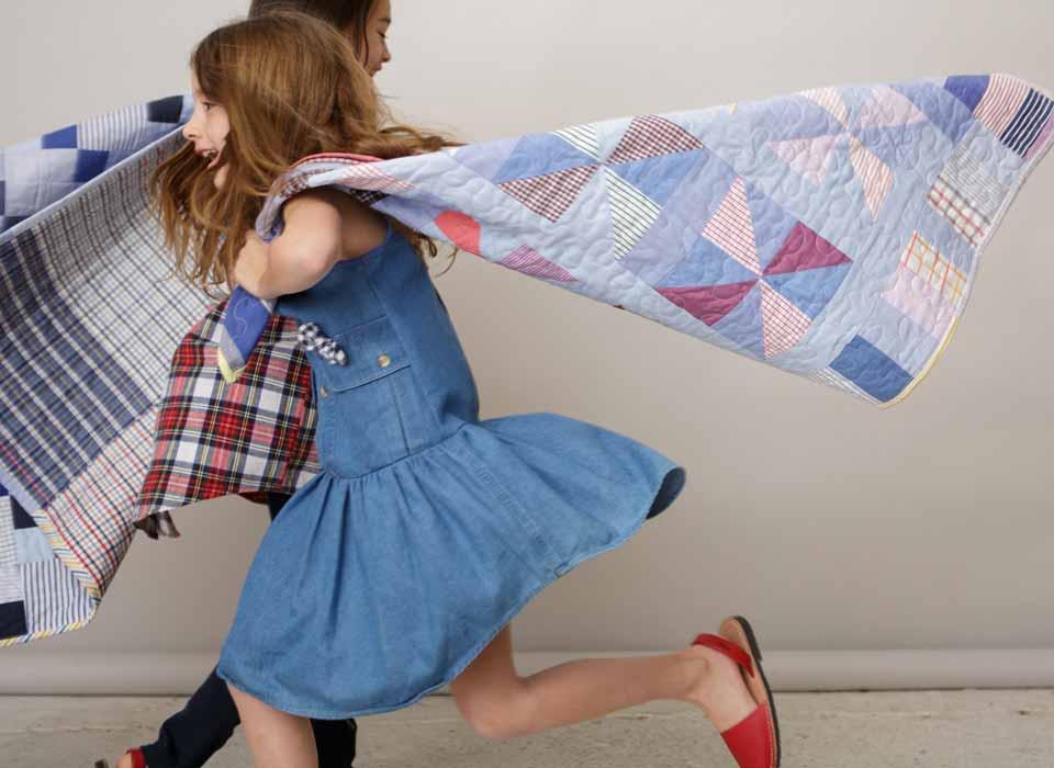 kallio girls vintage indigo dress