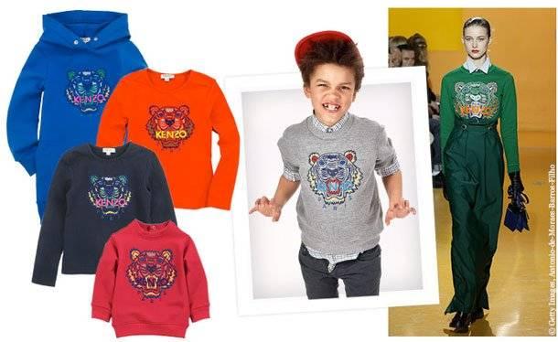 kenzo mini boys tiger sweater