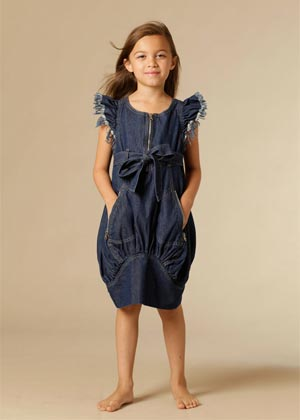 kidcuture spring summer 2013 girls denim dress