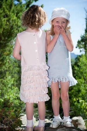 lamanblu holli gibson girls pink blue dress