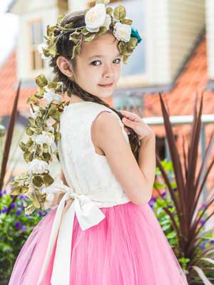 leny tomy factory girls pink tulle dress