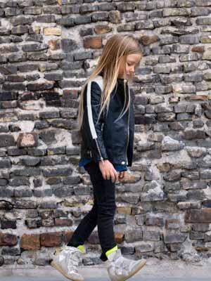 little remix girls black jacket