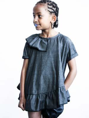 loud apparel girls grey dress
