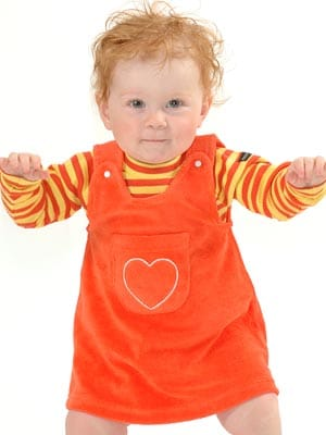 moonkids baby girl orange dress