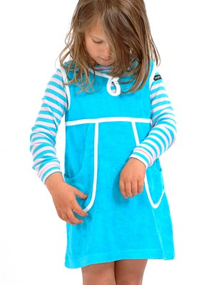 moonkids girls blue striped dress spring summer 2013