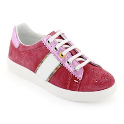 Paul Smith Junior Dark Pink Suede Leather Trainers