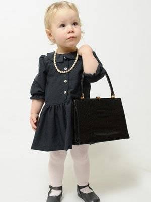 P'tit Chic de Paris little girl dress with purse