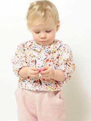 P'tit Chic de Paris little liberty fabric girl candy shirt