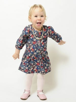 P'tit Chic de Paris little liberty fabric girl dress