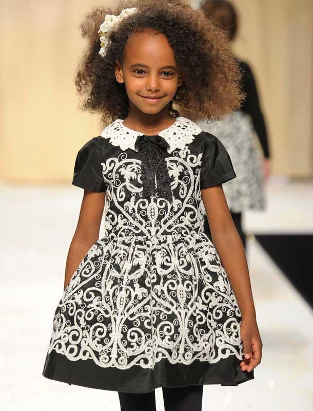 Quis Quis Girls black white dress FW14