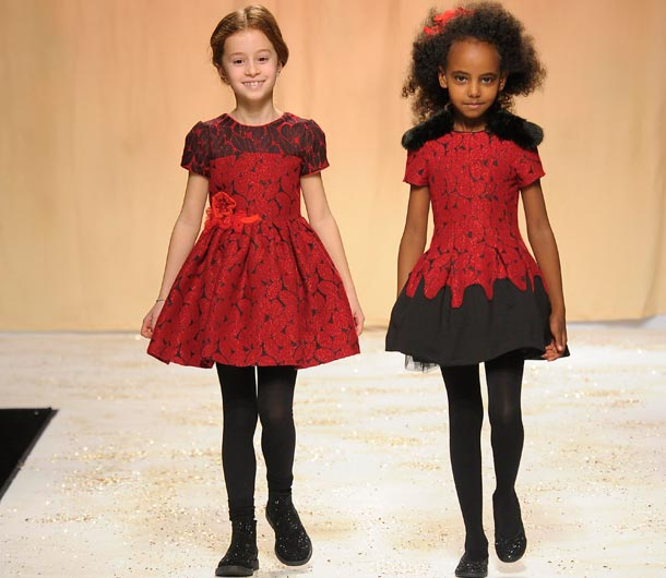 Quis Quis Girls Red Dresses FW14