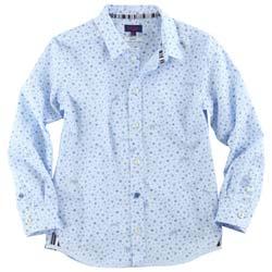 paul smith junior Sky blue printed shirt
