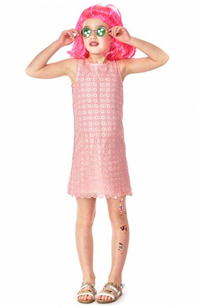 paul smith junior girls pink lace dress