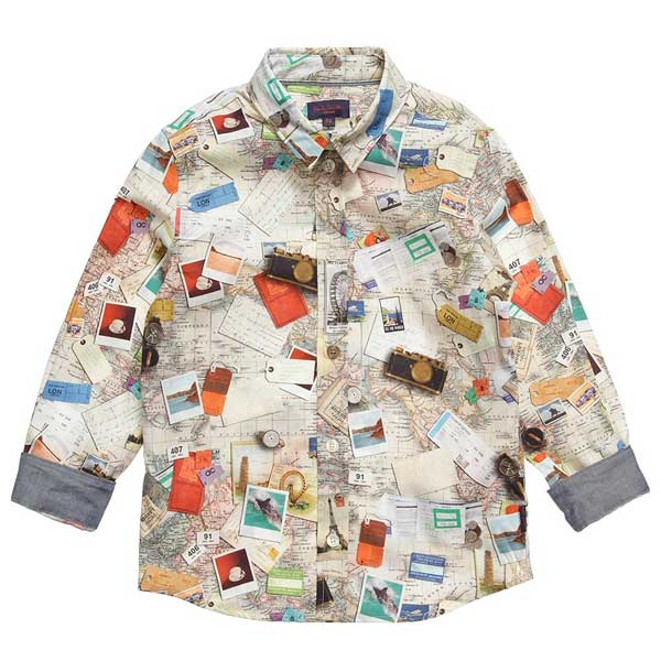 Boys Paul Smith Junior Map Shirt
