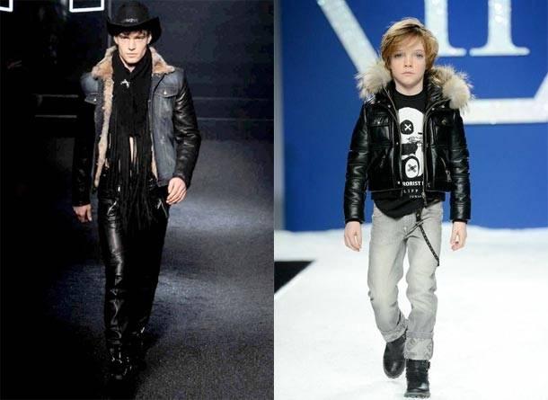 phillip plein petite boys fur jacket