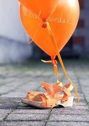 pom dapi orange sandals