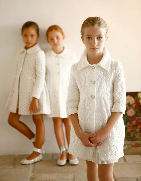 quis quis girls white coat spring summer 2014