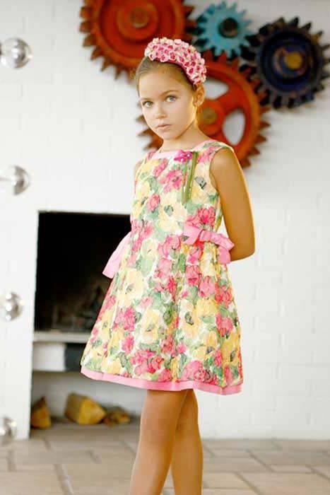 quis quis girl flower dress spring summer 2014