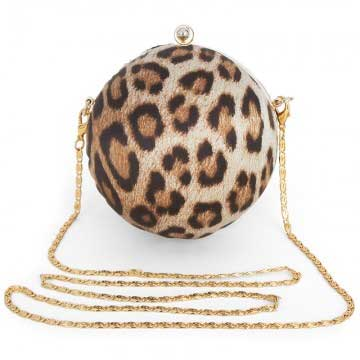 roberto cavalli leopard print orb bag