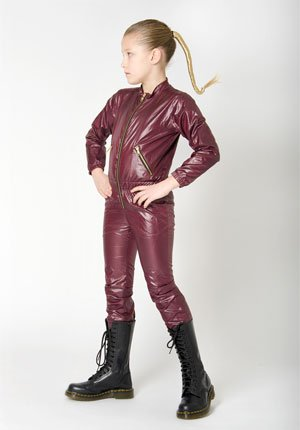 shampoodle fall winter 2013 girls leather outfit