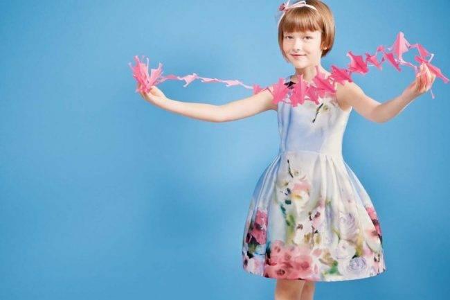 simonetta girls flower dress