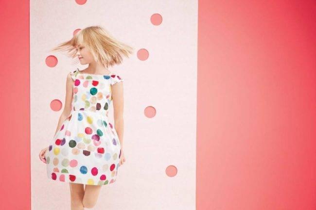 simonetta girls polkadot dress