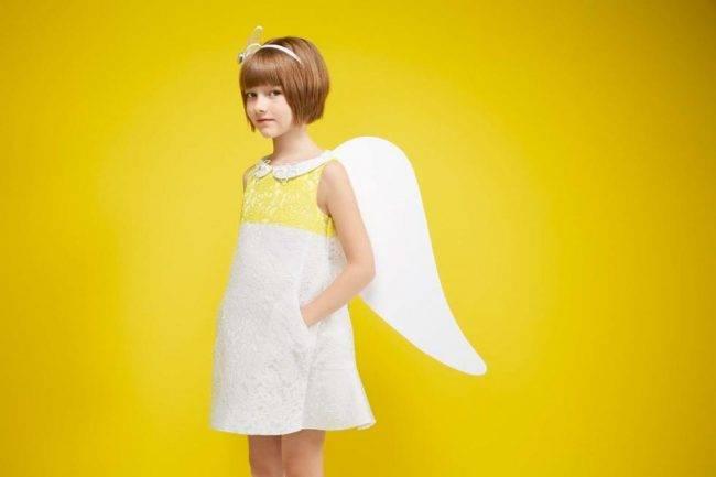 simonetta girls yellow dress italy