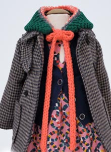 simple kids girls tweed coat