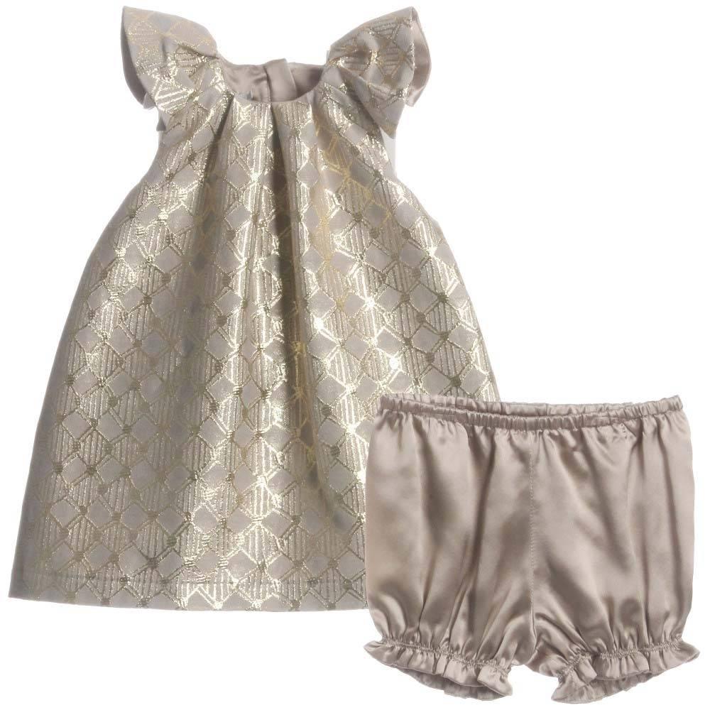 baby dior gold dress