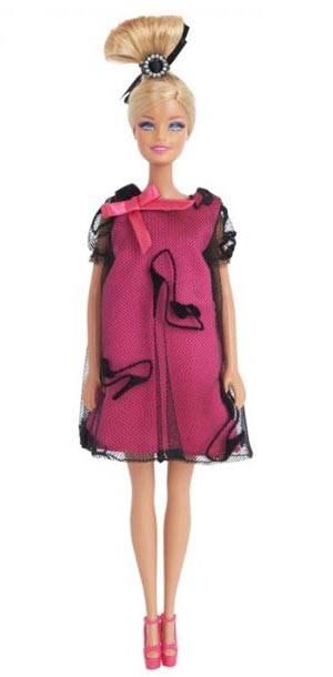 suzane ermann pink stiletto print barbie