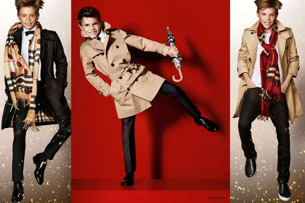 Burberry Childrenswear Featuring Romeo Beckham