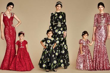 DOLCE & GABBANA GIRLS MOMMY MINI ME EVENING BAMBINA GOWN COLLECTION