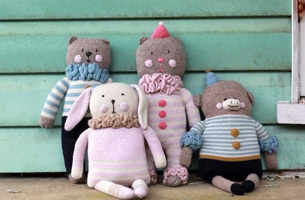 Fournier Friends Hand Knit Pillows
