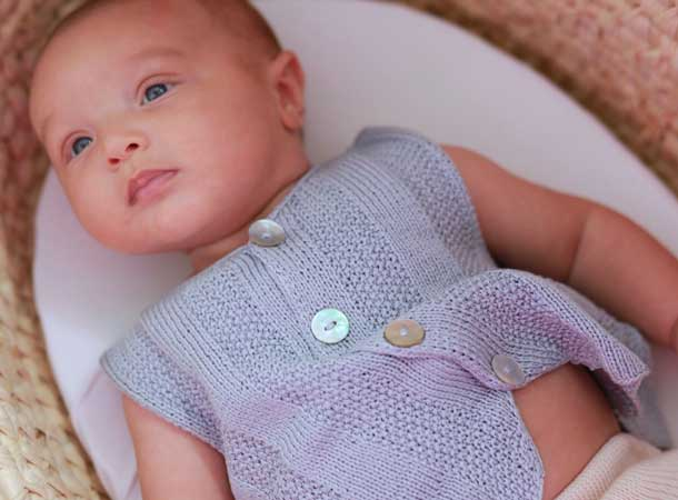 Fournier seaglass hand knit baby clothes