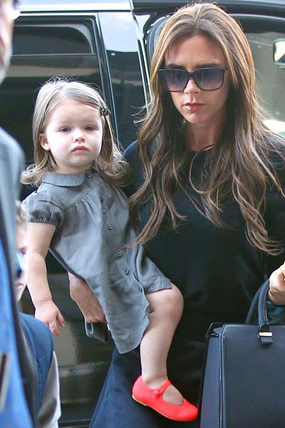 Harper Beckham caramel baby child