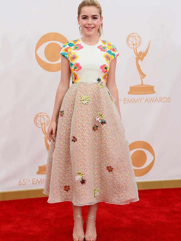 Kiernan Shipka Delpozo Dress Red Carpet