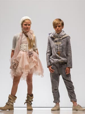 Les Enfants exit of Eden by Hortensia Maeso on the catwalk at FIMI 77 Fashion Show