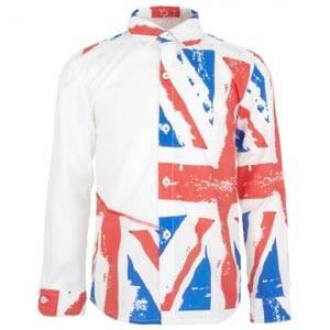 Love made Love White Union Jack Shirt