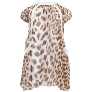Roberto Cavalli Leopard Print Silk Dress