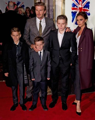 beckham family burberrry suits