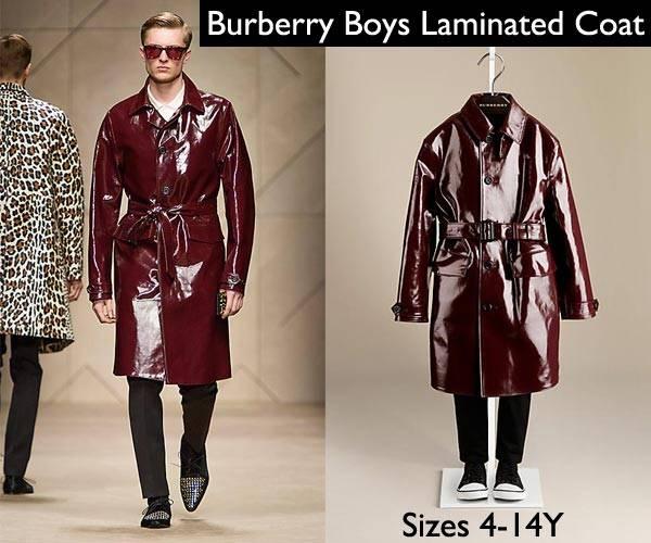 burberry boys laminated trench coat