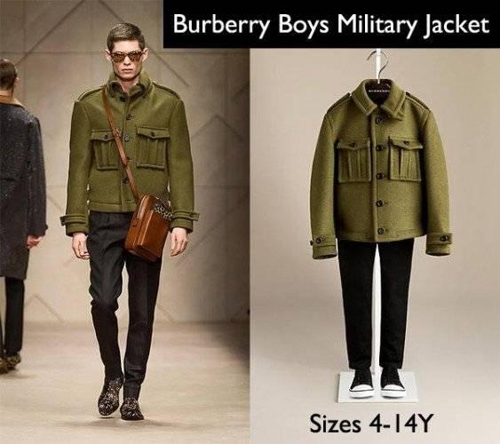 burberry boys military jacket